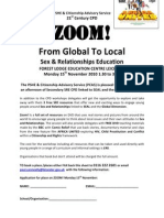 Zoom! - From Global To Local Sex and Relationships Education Course