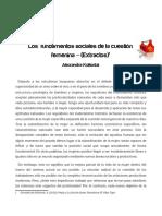 11. [AP. 11] - Alexandra Kollontai - Los Fundamentos Sociales de La Cuestión Feminina