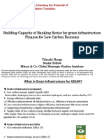 Building Capacity of Banking Sector for Green Infrastructure Finance for Low Carbon Economy