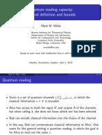 Quantum reading capacity