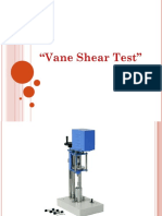 Vane Shear Test