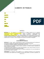 Reglamento Interno de Trabajo (Modelo)
