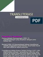 Transliterasi