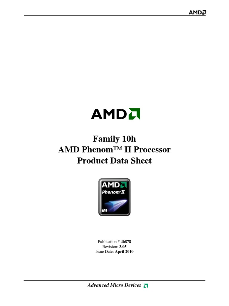 Family 10h - AMD Phenom™ II Processor - Product Data Sheet