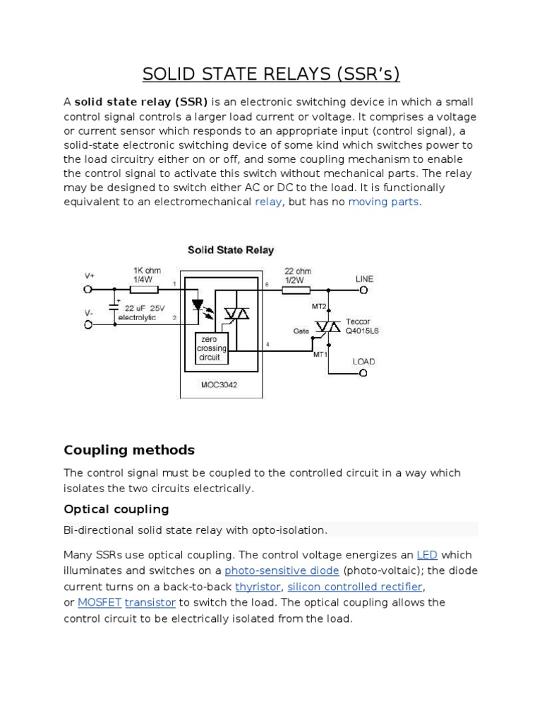 Solid State Relays Relay Switch Voltage