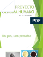 Proyecto Genoma Humano antecedentes