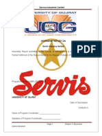 265459722 Internship Report of Service Industries Limited