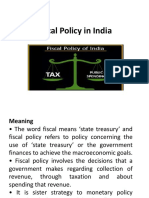 Fiscal Policy in India-PPT
