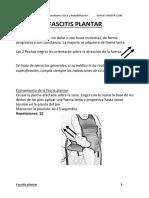 Sociedad Valenciana Medicina Fisica y Rehabilitacion Ejercicios Fascitis Plantar