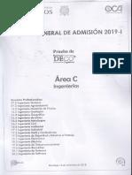 Examen de admisión UNMSM 2019 - I (Área C).pdf