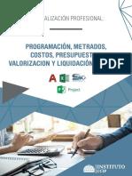 Brochure_programación, Metrados, Costos, Presupuestos, Valorizaciones y Liquidaciones de Obras