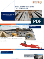 Tiang Listrik - Uji Jenis 19-23 Maret 2019