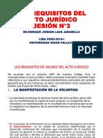 PPT-N°3-LOS REQUISITOS DEL ACTO JURÍDICO-