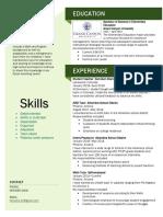new teaching resume