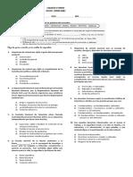 Evaluaciòn Sociales Tercer Periodo Grado 5