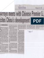 Manila Bulletin, Apr. 1, 2019, Arroyo meets with Chinese Premier Li, cites China's development lessons.pdf