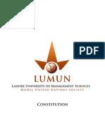 LUMUN Constitution