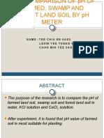 Presentation of Soil Experiment