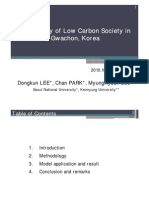 Case Study of Low Carbon Society in Gwachon, Korea