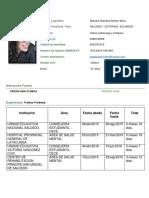 Currículum Vitae Mariana Ramón