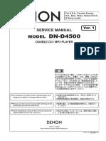 Denon TU-1800DAB Service Manual