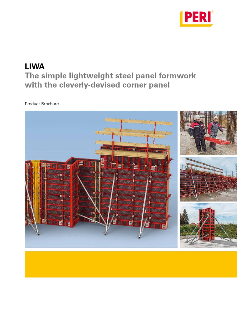 The simple lightweight steel panel formwork with the cleverly