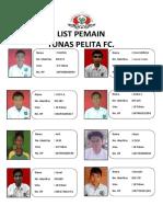 Daftar  PEMAIN JOSSDIATOR medan.docx