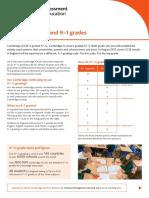 Igcse 9 1 Grading Factsheet