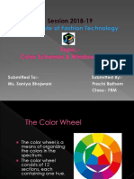 Color wheel & schemes with window displays