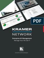 5c751c4833fbe07269fc2317 Kramer Network Enterprise Management Platform Br