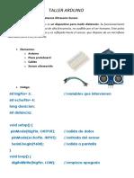 TALLER ARDUINO - P2 - Medidor de Distancia Ultrasonic Sensor