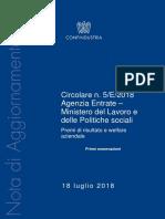 Confindustria Commento Premio Risultato e Welfare