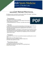 Bankart Repair Protocol Anterior 2009