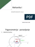Mehanika I 2 Komponente