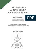 Sanz AAAI SSS 2019 Consciousness and Understanding