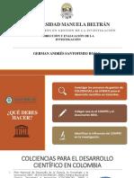 Procesos de Gestión de COLCIENCIAS y de La UNESCO Para El Desarrollo Científico en Colombia