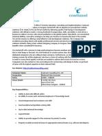 Job Description For Technical Sales