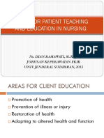 Areas for Patient Teaching and Education in Nursing