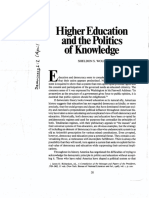 Higher Education and the Politics of Knowledge.pdf