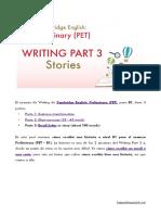 PET Writing Part 3 Story