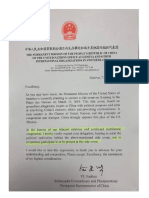 China letter HRW