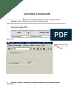 Transaction J1BG - Bloqueio Impressão