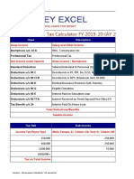 Income Tax Calculator FY 2019 2020