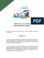 Manifest de la Plataforma Mercaderies Interior
