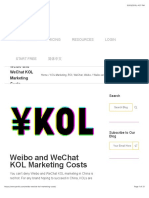 Weibo and WeChat KOL Marketing Costs | PARKLU