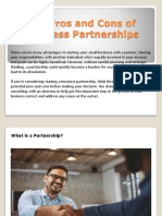 The Pros and Cons of Business Partnerships