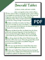 Emerald Tablet - Hauck Translation