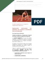 Ayudas Ergogénicas en El Deporte I_ Suplementos Deportivos