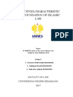 OBJECTIVES,CHARACTERISTIC AND FOUNDATION OF ISLAMIC LAW