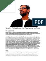 Sunder Pichai from the Beginning to Peak of Success.docx